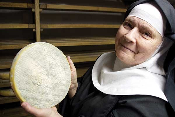 Cheese nun, Mother Noella Marcellino, not only loves cheese, but holds a PhD in microbiology from the University of Connecticut. Photo credit Peter Barrett chronogram.com.